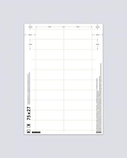 Druckbogen für Namensschilder Badgepoint 10er Pack